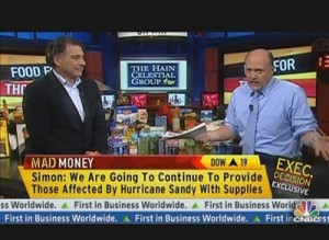 Irwin Simon with Jim Cramer